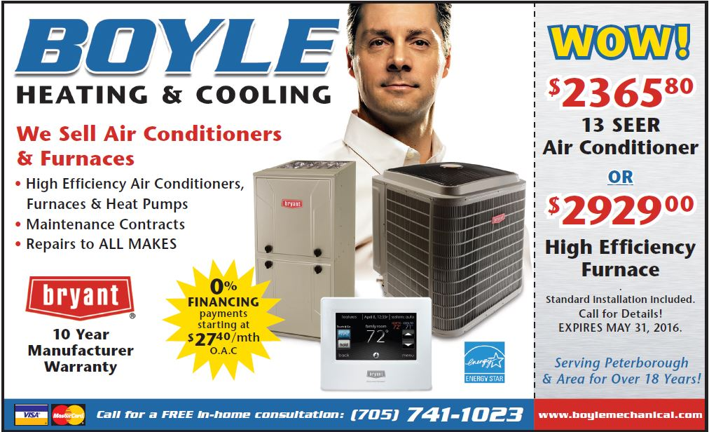 discounts on furnace and central air conditioner